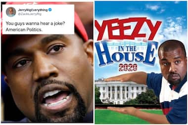 """""""If Kayne wins, we will have 2 first ladies in a row that did p*rn."""" – See social media reactions to Kanye West's 2020 presidential bid announcement"""