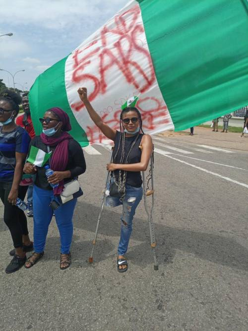 #AbujaProtests: #ENDSARS Protesters raise Over N4m Within Hours For Young Lady Who Participated In Abuja Demonstration To Buy Prosthesis