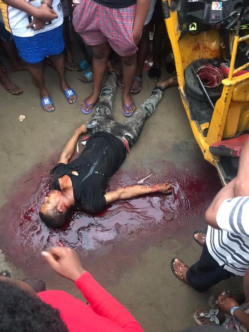 """UPDATE: """"Police officer detained for shooting a Keke Napep driver to death over '100 Naira' in Rukpokwu, Portharcourt (watch viral video)"""""""