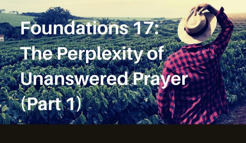 Foundations of Christian Spirituality 17: The Perplexity of Unanswered Prayer (Part 1) – Rev. Christina Ng