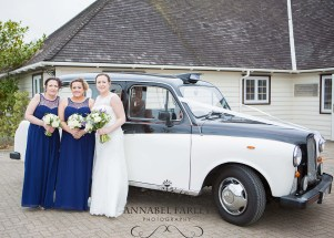 Ideal wedding transport - a London cab