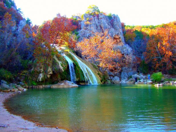 4k Central Park In The Fall Wallpaper Turner Falls Park The Largest Waterfall In Oklahoma