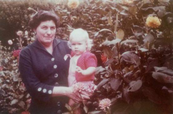 Vanessa Hogge's grandmother, Kath Thurston with Vanessa's cousin Jude Norton
