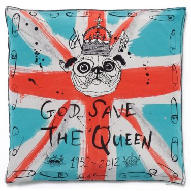 Age of Reason Studios - God Save The Queen cushion