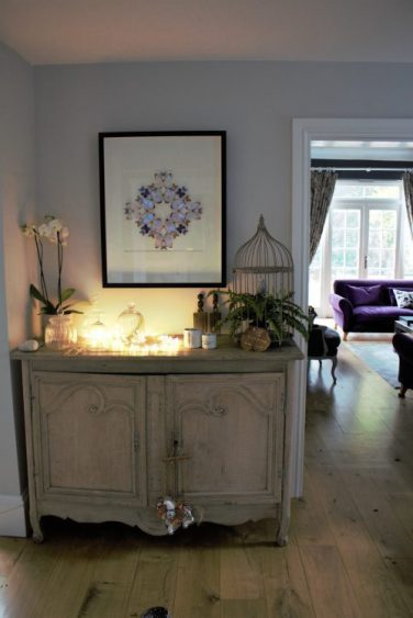Vintage French painted cupboard in Karen Kennedy of Indigo Rye's home for Charis White blog