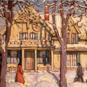 christmas-greeting-card-harris-street-scene-figures-hamilton-by-lawren-harris