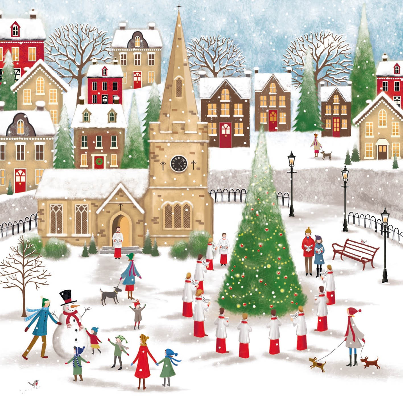 Church Square Christmas Card Charity Cards