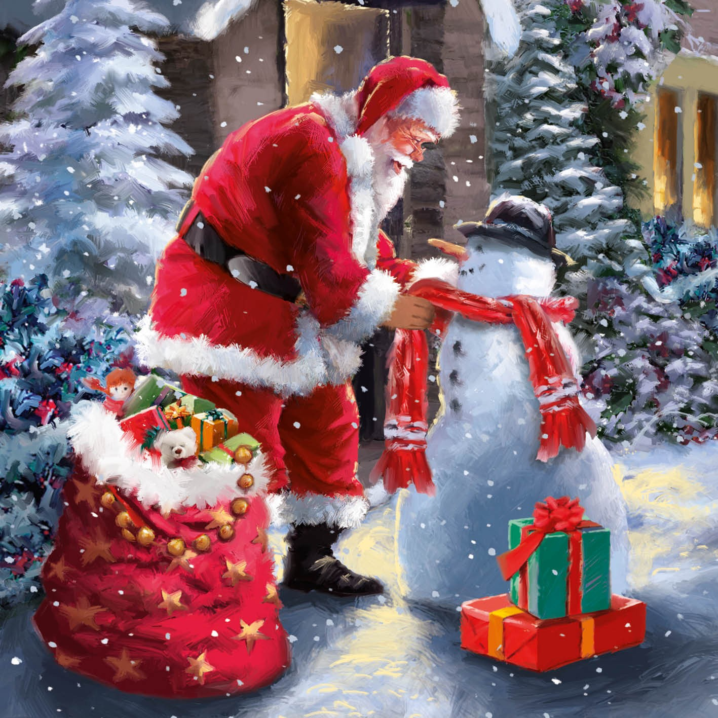 Santas Friend Christmas Card Charity Cards
