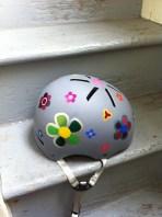 flowery helmet