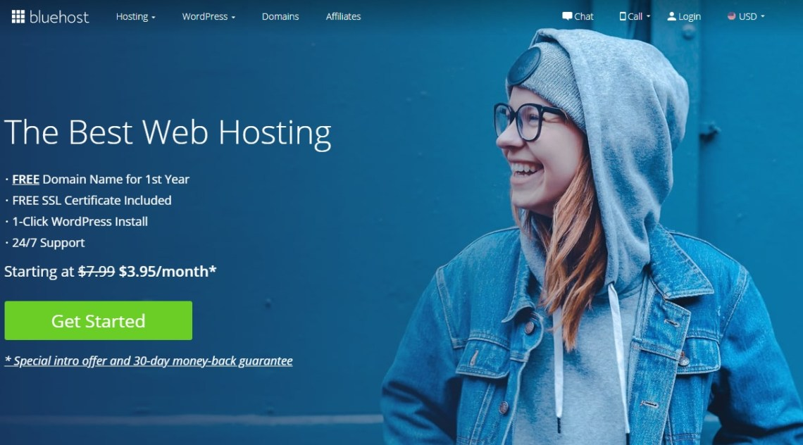 Wordpress blog on bluehost