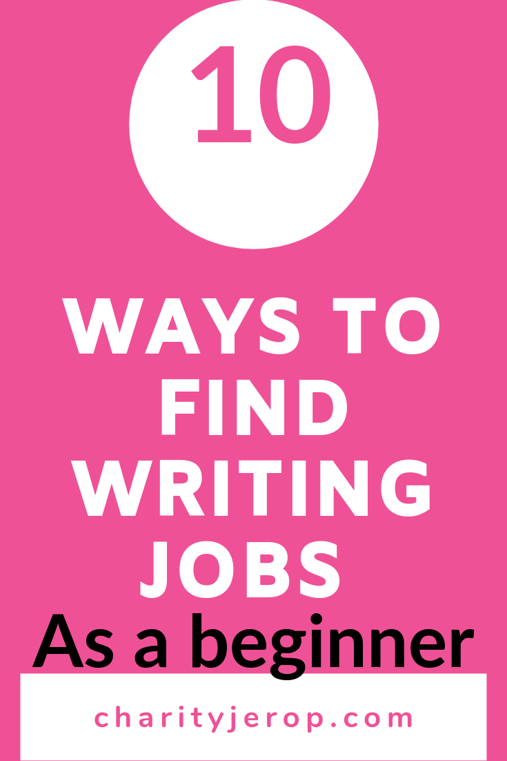 How to find writing jeobs as a beginner(Pinterest)