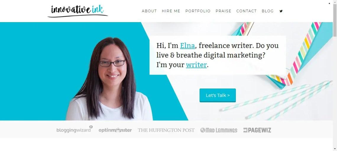 Writer website