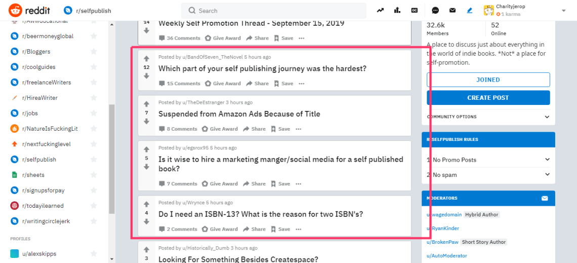 blog ideas from reddit