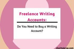 Freelance writing accounts