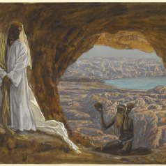 """Jesus Tempted in the Wilderness"" ~ James Tissot"