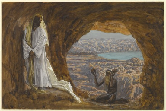 """""""Jesus Tempted in the Wilderness"""" ~ James Tissot"""
