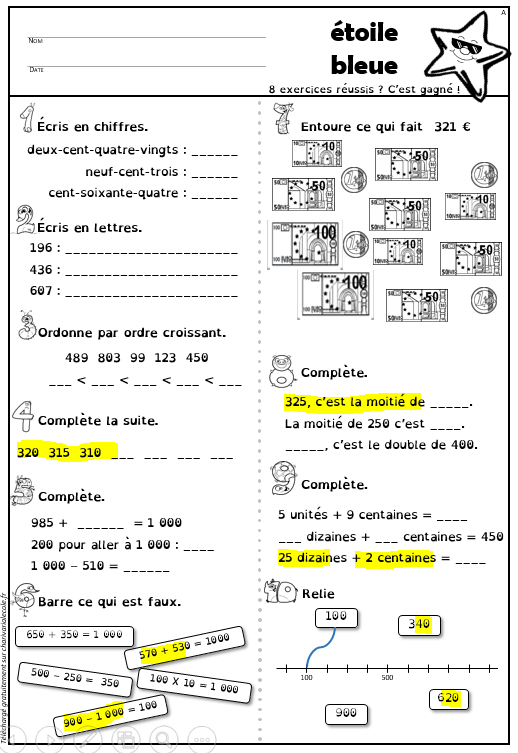 Tout Pour Le Calcul Mental Cm1 : calcul, mental, toiles, Numration, Version, Belge, Charivari, L'cole