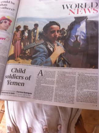 THE INDEPENDENT APRIL 19, CHILD SOLDIERS OF YEMEN