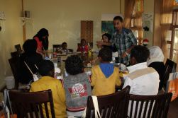 The group of 12 orphans at the art workshop %22From Rubble%22