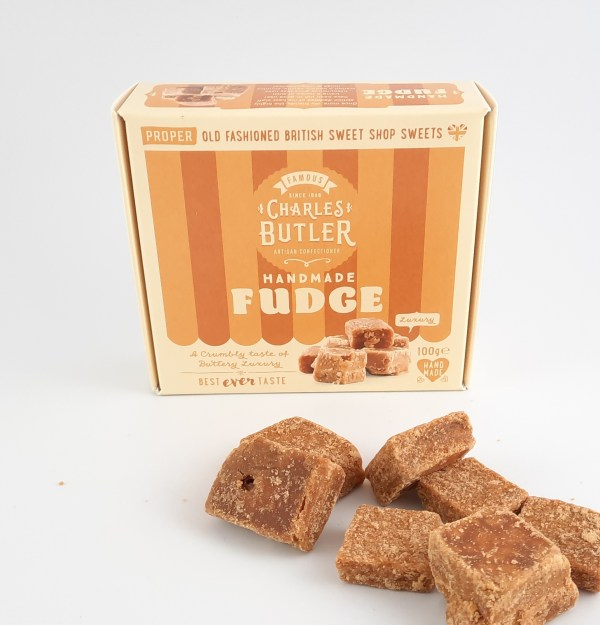 Charles Butlers Handmade Fudge Box with sweets