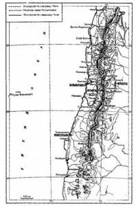 Среднее и северное Чили.  По данным карт, составленных офицерами «Бигля».