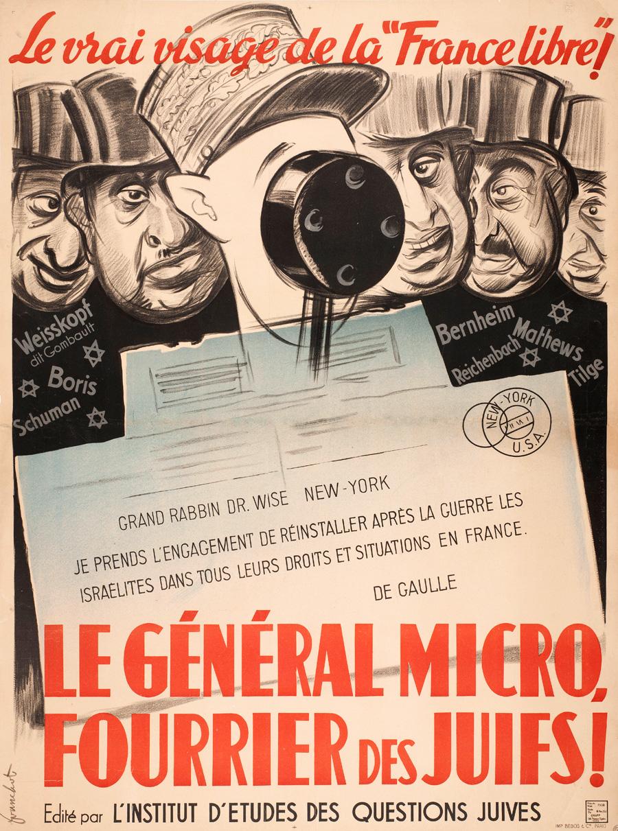 De Gaulle Et Les Juifs : gaulle, juifs, Général, Micro,, Fourrier, Juifs, Fondation, Charles, Gaulle