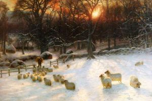 Beneath the Snow Encumbered Branches. By Joseph Farquharson.