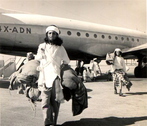 Near East Air Transport on Airlift of Habbanim Jews from the South Arabian Peninsula, Operation Magic Carpet.