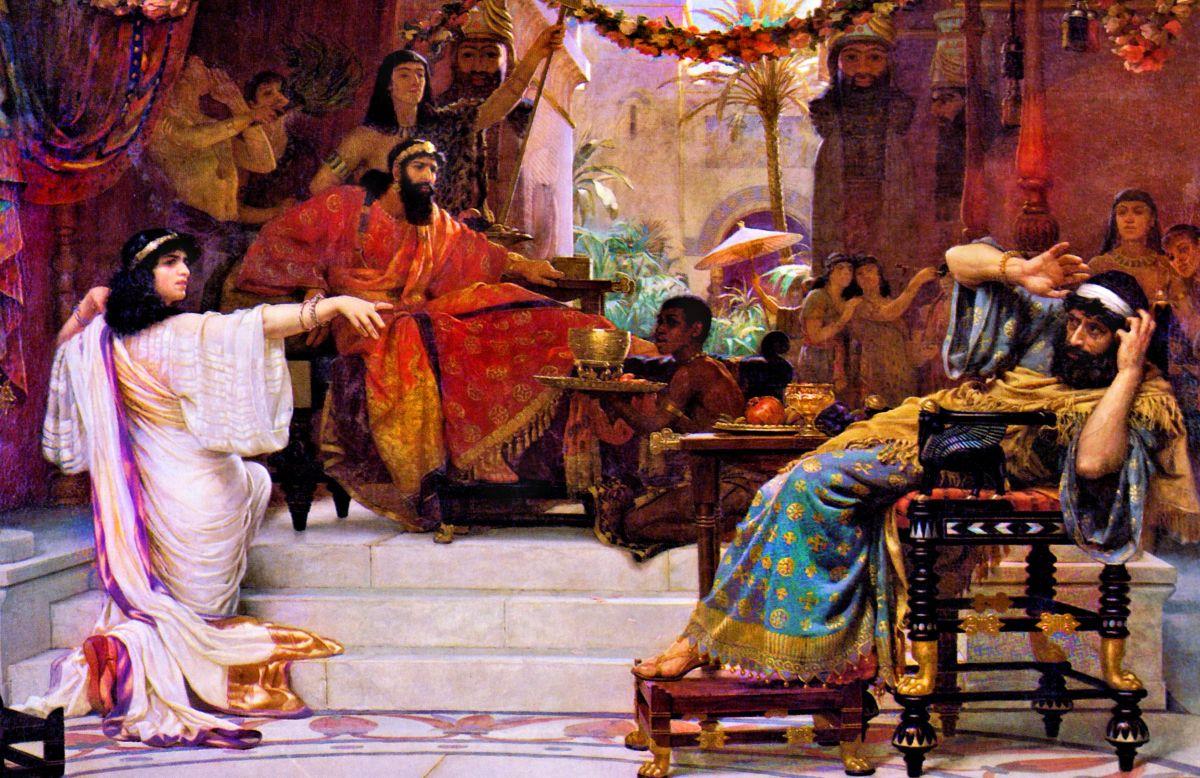 Esther Denouncing Haman.