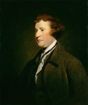 """Edmund Burke: """"The only thing necessary for the triumph of evil is for good men to do nothing."""" By Joshua Reynolds."""