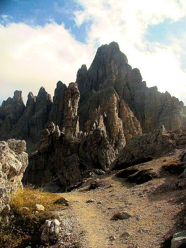 Monte Paterno of the Sexten Dolomites, Italy.