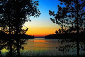 Bass Lake at Sunset. © Charles E. McCracken