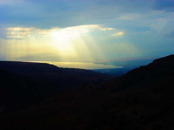 A Break in the Clouds over Lake Kinneret as viewed from Gamla, Israel. © Charles E. McCracken Archives.