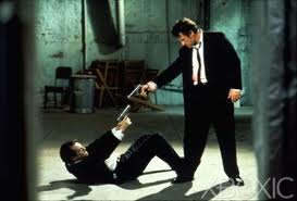 Fighting yourself: Harvey Keitel as Mr. White and Tim Roth as Mr. Orange in Reservoir Dogs