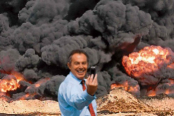 Tony Blair in front of the Iraq War - be careful what words you use - by Charles Harris