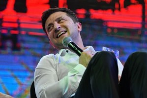Ukrainian comic actor, showman and president Volodymyr Zelensky - Ukraine elected a comedian president - Charles Harris (Photo credit GENYA SAVILOV/AFP/Getty Images)