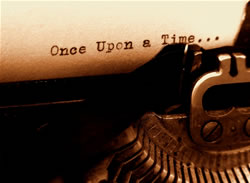 Typewriter typing once upon a time - Recommended books for writers