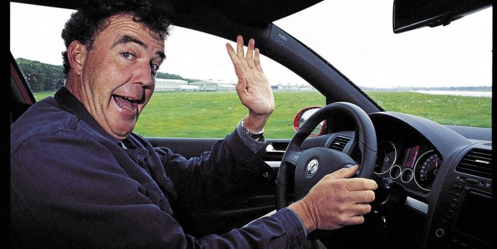 Jeremy Clarkson in his car - Jeremy Clarkson has the virus by Charles Harris
