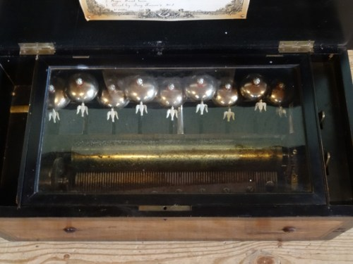Lot 575 - Victorian Music Box with 8 Airs