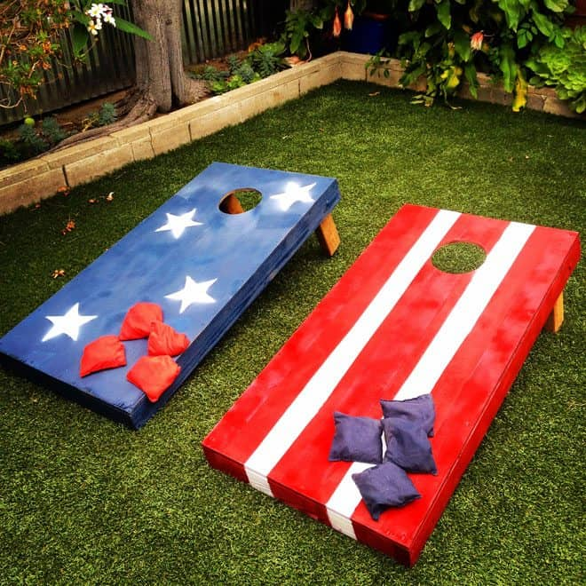 Stars And Stripes Bean Bag Toss | Patriotic 4th Of July Party Ideas You Can DIY On A Budget