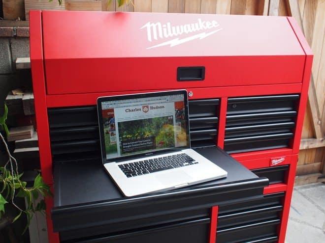 Laptop work area