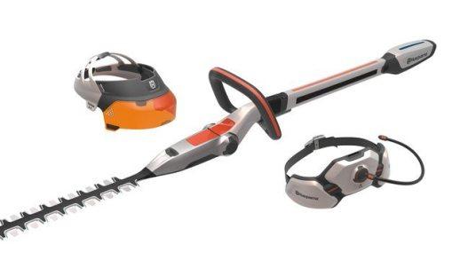 Design concept Husqvarna Ramus - hedge trimmer, visor and hip belt battery