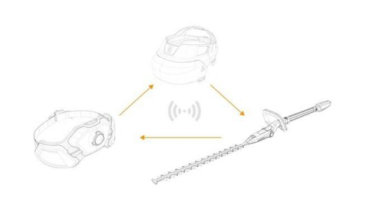 Design concept Husqvarna Ramus - illustration of how all parts communicate with each other