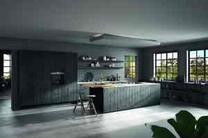 ROTPUNKT - Raw Kitchen in Black Sandblasted Wood finish - HRa