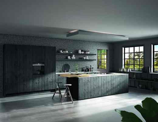ROTPUNKT - Raw Kitchen in Black Sandblasted Wood finish - HRa