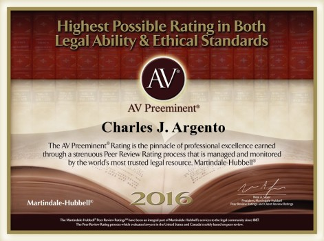AV Preeminent Attorney 2016