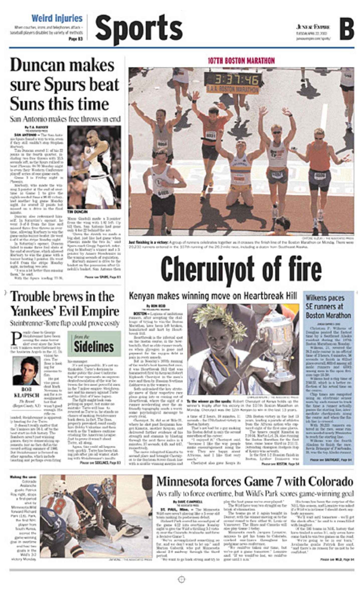 Newspaper page design  Charles Bingham