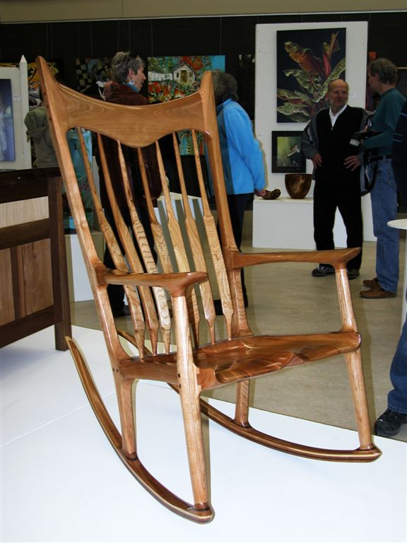 sam maloof rocking chair plans hal taylor kids bistro table and chairs rock n chairmen charles brock chairmaker vern fish s rocker wins major ontario crafts awards