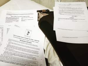 Legal forms spread out.