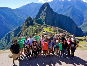 Walker with UC Davis students at Machu Picchu